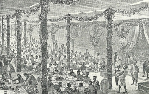 A banquet at the palace of Emperor Menilik (1889-1913)