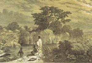 A Beta Israel village in Ethiopa, c. 1860s