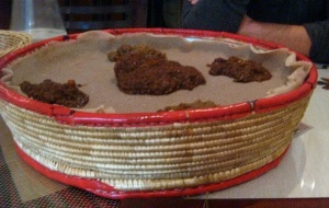 Ethiopian food in Israel  (photo by Justin Jacobs)