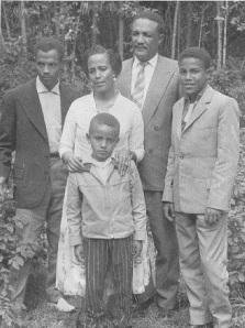 Zewdu, left, and young Menkir, center, in a family photo  from around 1959-60  (Courtesy Menkir Tamrat)