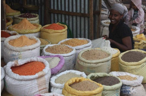 Spices and more for sale at a market in Bahir Dar, Ethiopia