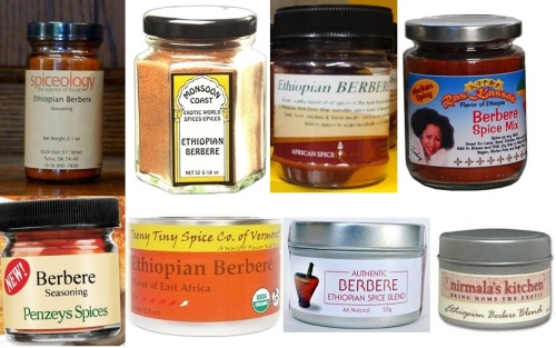 Here are some of the many commercial berbere blends on the market.