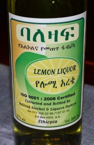 A Balezaf  brand liquor made in Ethiopia