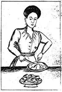 Making doro dabo, or chicken bread,  from a 1956 Ethiopian cookbook