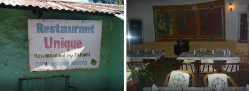 "In the historic city of Lalibela, you can get Ethiopian food at the very homey, tin-roofed Unique,  which is ""recommanded by farngi"" (foreigners), or the decidedly more upscale Seven Olives."