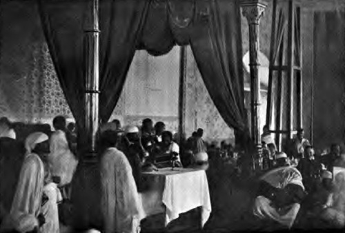 Emperor Menelik hosted an intimate banquet for 8,000 people in 1904 to honor Robert Peet Skinner,  a visiting American envoy who had come to negotiate a treaty.