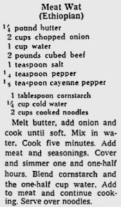 An early wot recipe in the U.S.