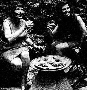 In 1970, American cookbook author Beatrice Sandler, left, prepared an Ethiopian meal in New York City, nine years before the city had an Ethiopian restaurant.