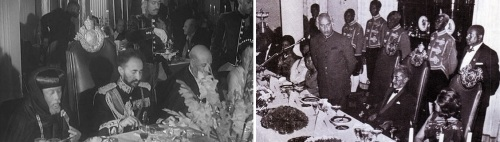 Emperor Haile Selassie ate at many banquets, but often the menu didn't feature Ethiopian food.