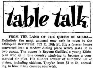 Beyene in Long Beach Newspaper