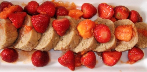 This is one way to serve strawberries jubilee fitfit.  The recipe and another picture are below.