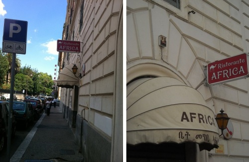 Ristorante Africa in Rome began life as an Eritrean restaurant and now bills itself as Ethiopian. It may be the oldest Ethio-Eritrean restaurant in Europe.