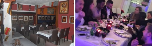 Jambo in Ludwigsburg, Germany (left), and Abyssinia in London, the city's first and oldest. Notice the very un-Ethiopian knives and forks in the latter.