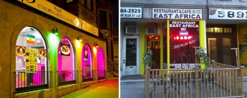 Two Canadian restaurants: Wass in Hamilton, Ontario, and East Africa in Montreal
